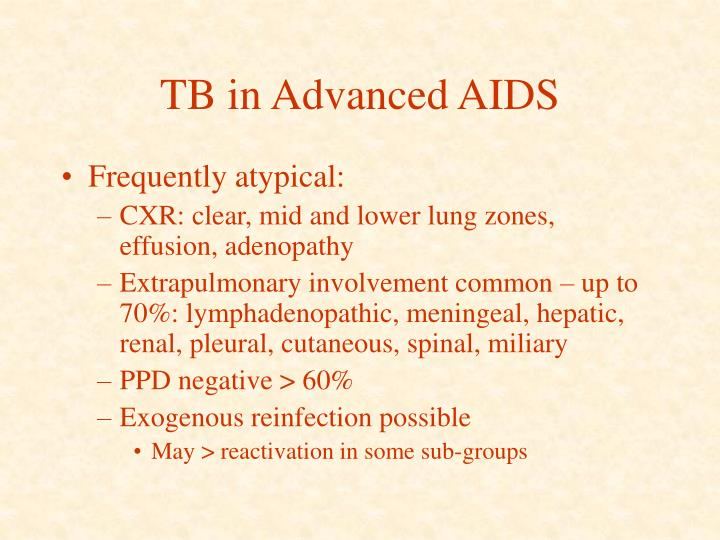 TB in Advanced AIDS