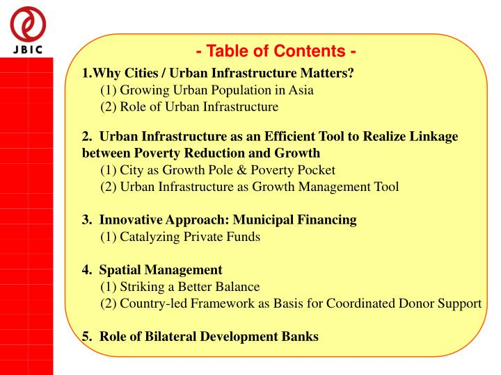 - Table of Contents -