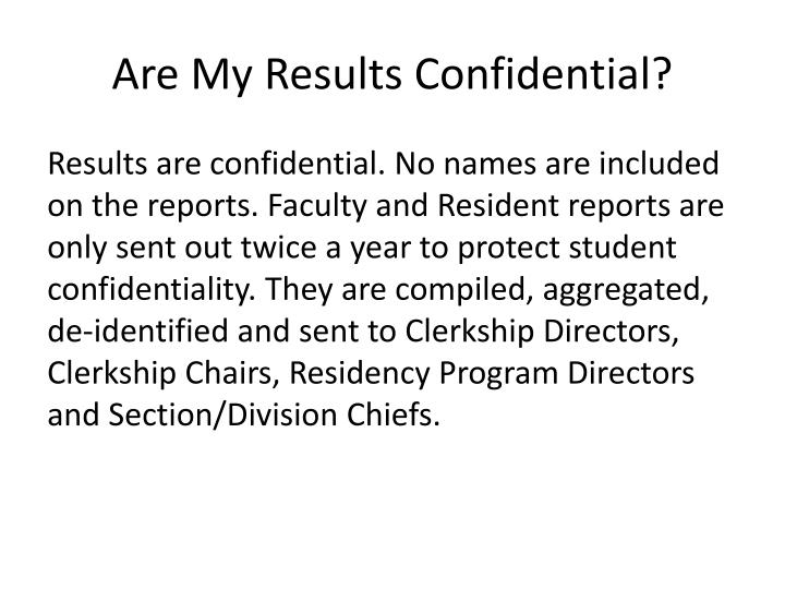 Are my results confidential