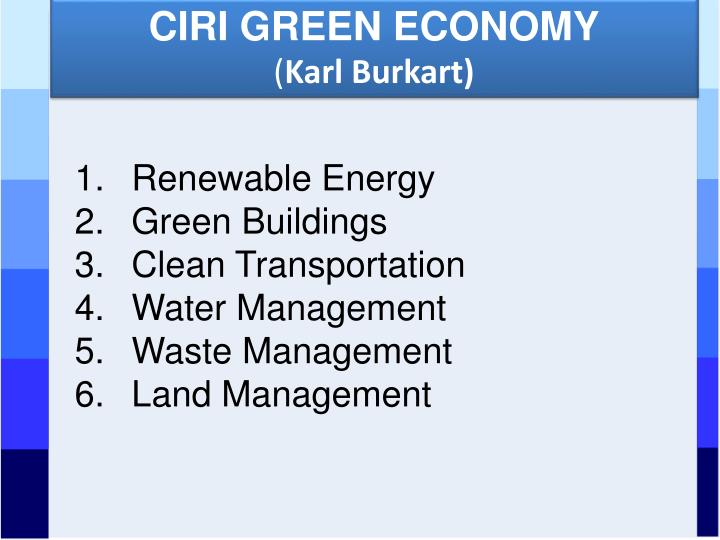 CIRI GREEN ECONOMY