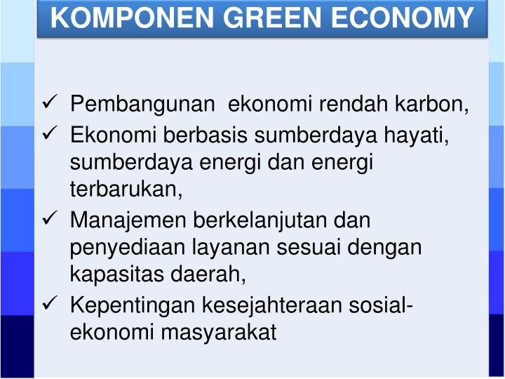 KOMPONEN GREEN ECONOMY