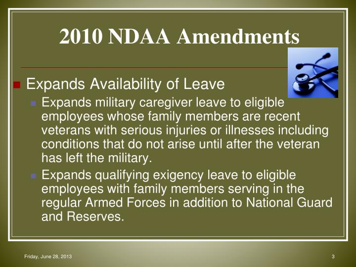 2010 NDAA Amendments