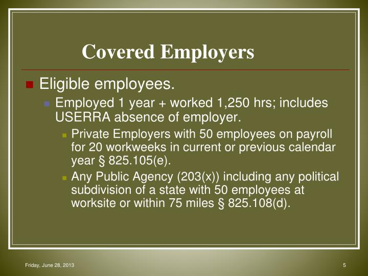 Covered Employers