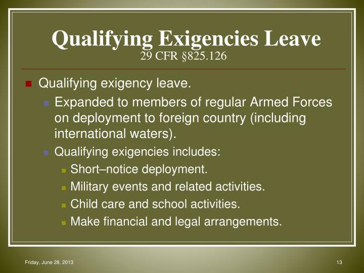 Qualifying Exigencies Leave