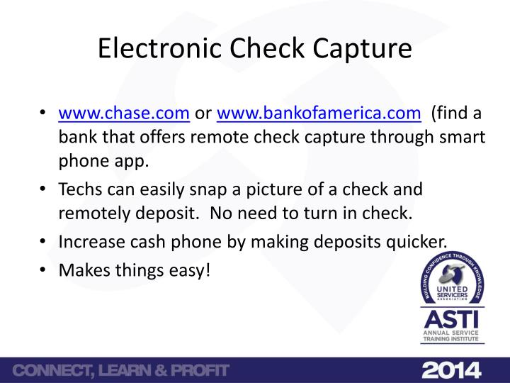 Electronic Check Capture