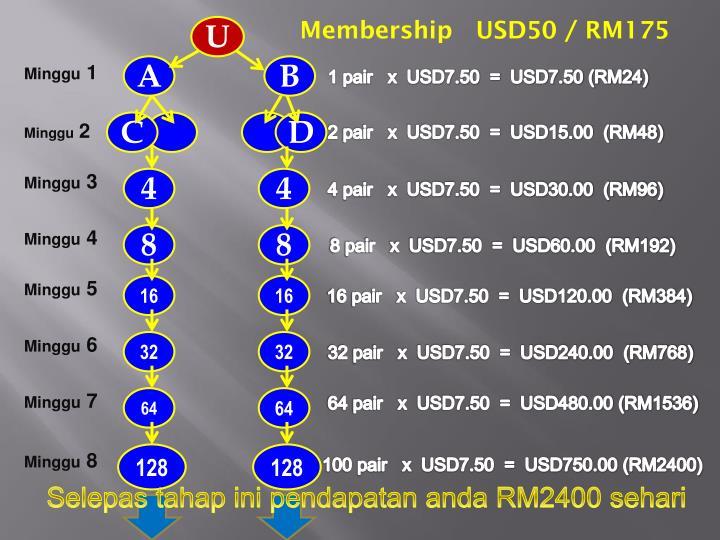 Membership   USD50 / RM175