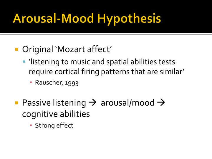 Arousal-Mood Hypothesis