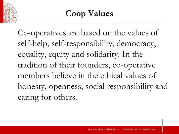 Coop Values