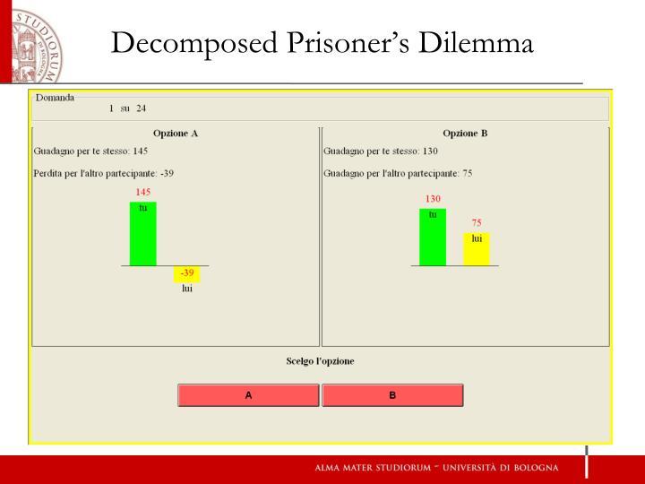 Decomposed Prisoner's Dilemma