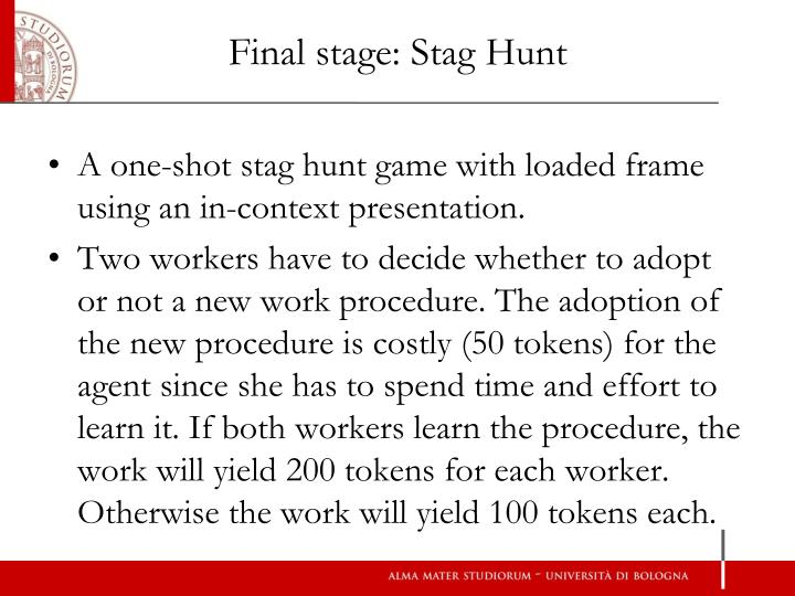 Final stage: Stag Hunt