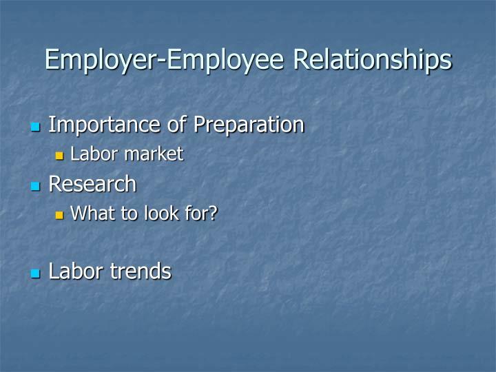 Employer-Employee Relationships