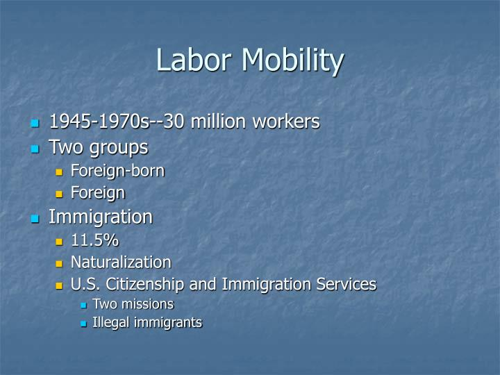 Labor Mobility