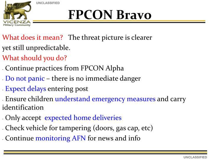 FPCON Bravo