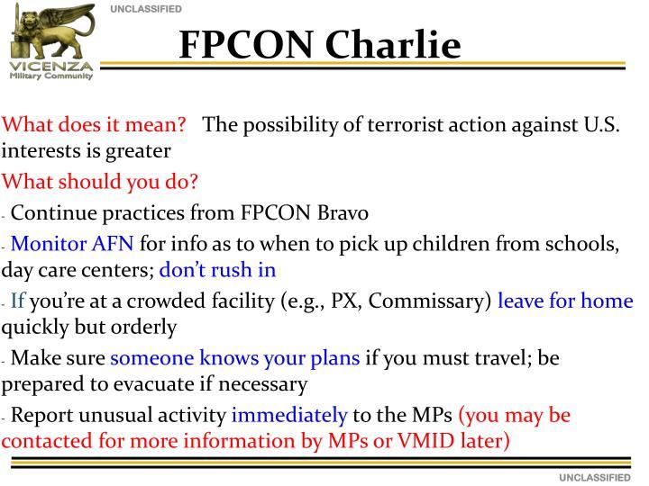 FPCON Charlie