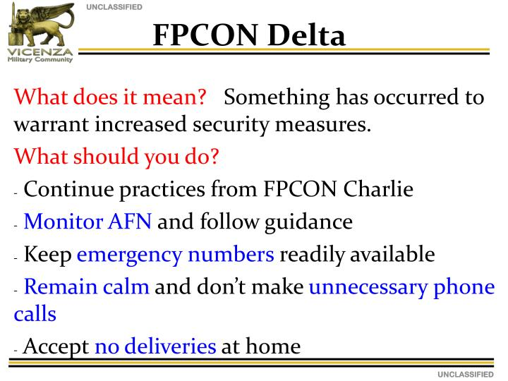 FPCON Delta