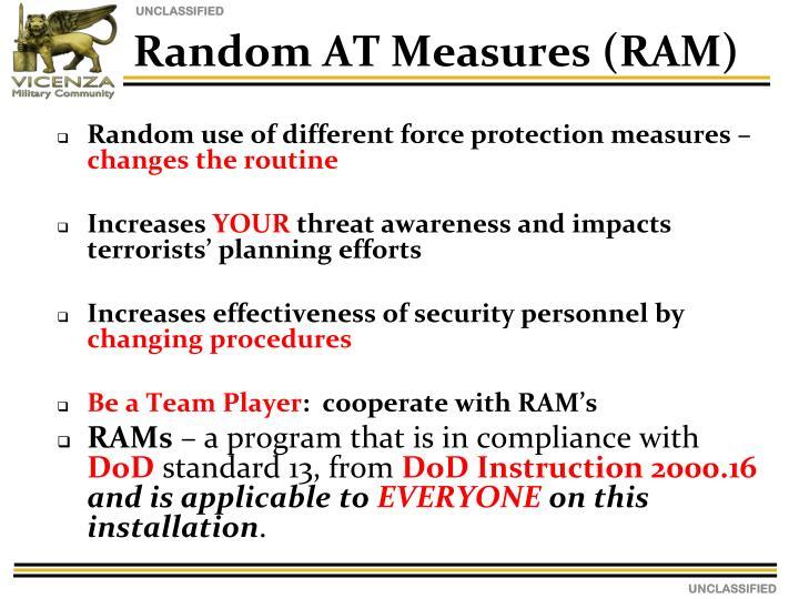 Random AT Measures (RAM)