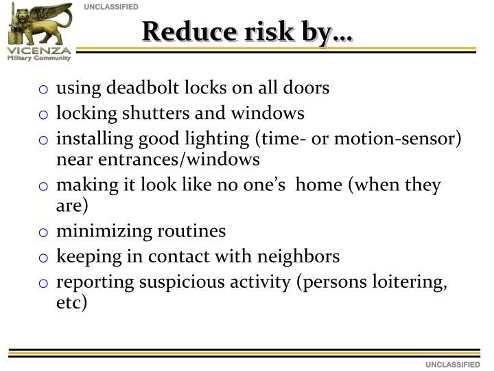 using deadbolt locks on all doors