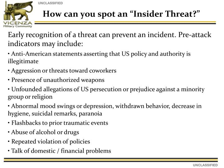 "How can you spot an ""Insider Threat?"""