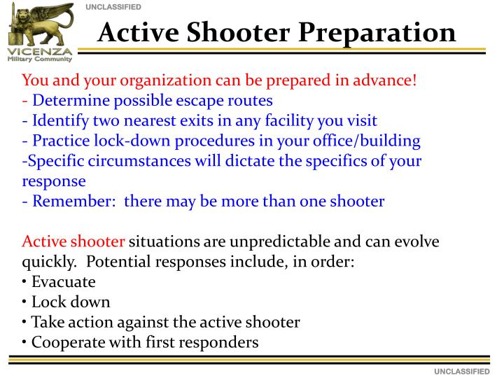 Active Shooter Preparation