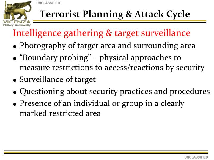 Intelligence gathering & target surveillance