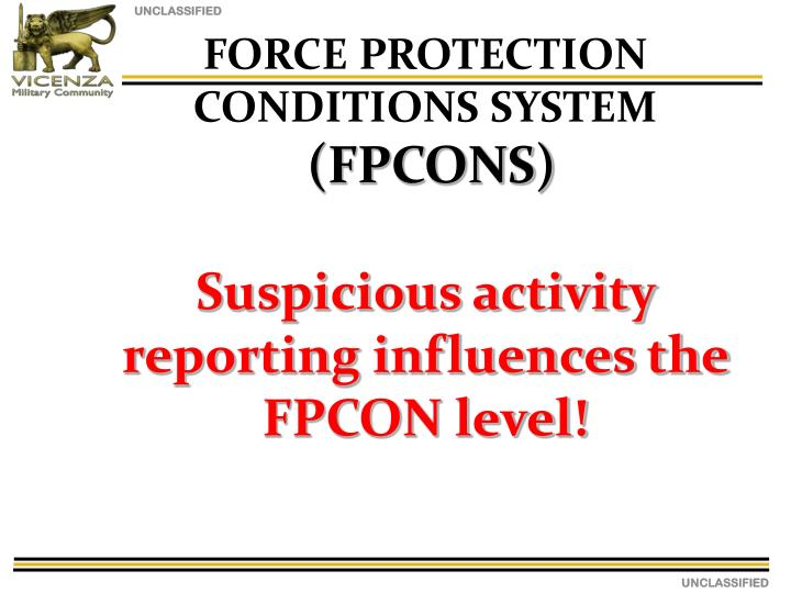 FORCE PROTECTION CONDITIONS SYSTEM
