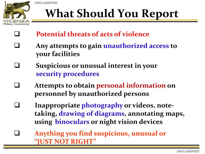 What Should You Report