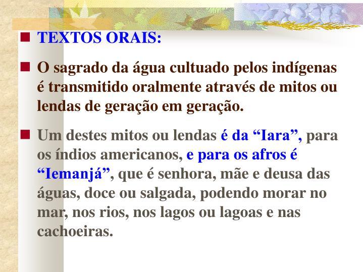 TEXTOS ORAIS: