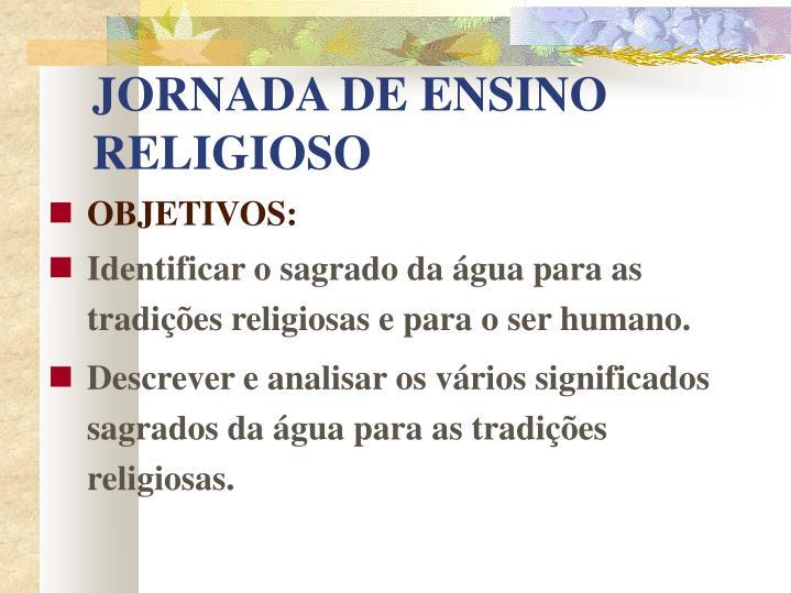 JORNADA DE ENSINO RELIGIOSO