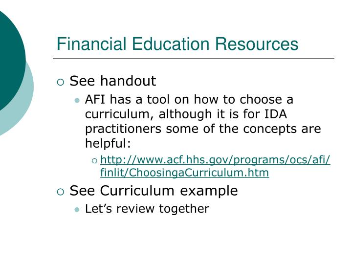 Financial Education Resources