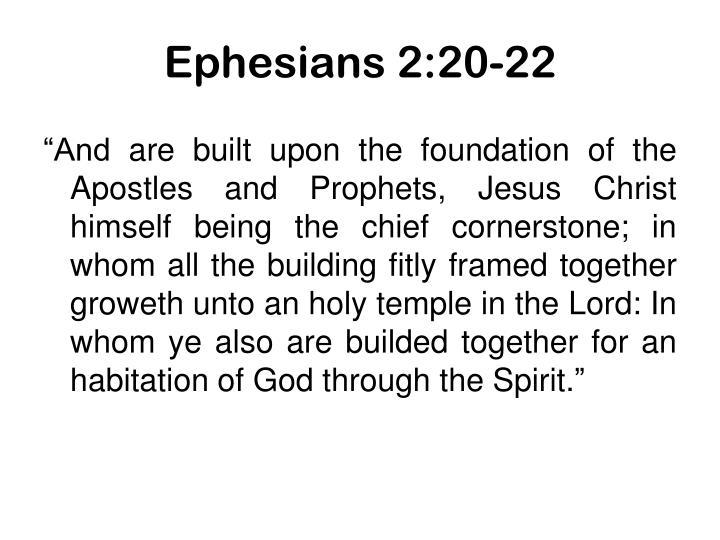 Ephesians 2:20-22
