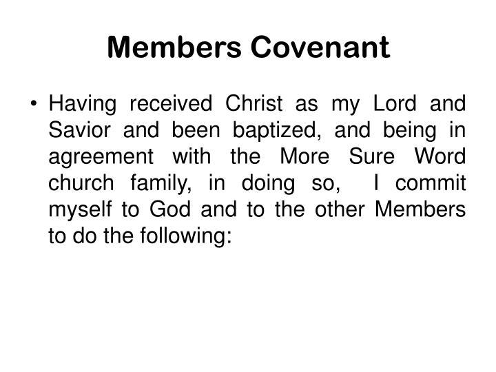 Members Covenant