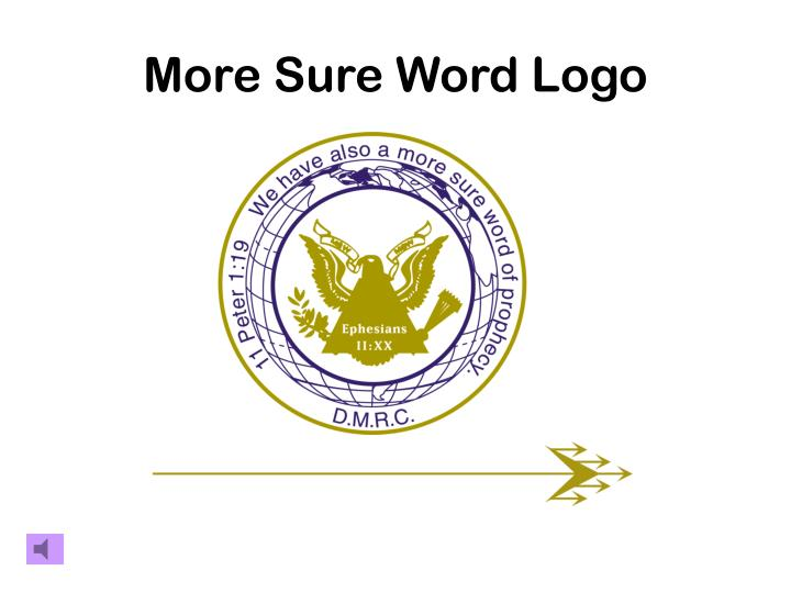 More sure word logo