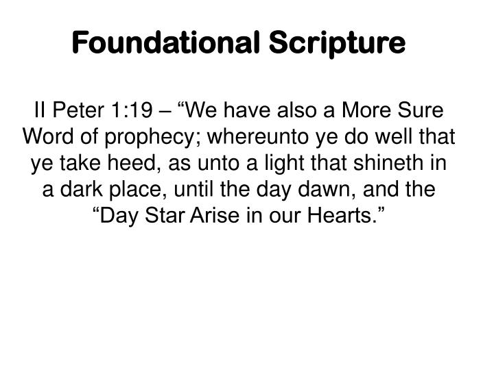 Foundational Scripture