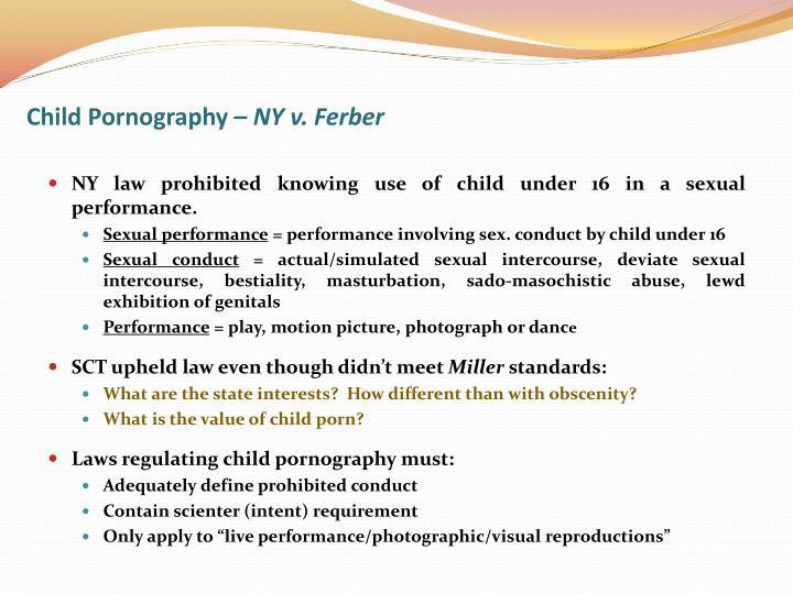 Child Pornography –