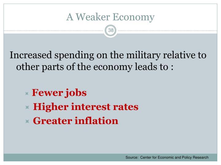 A Weaker Economy