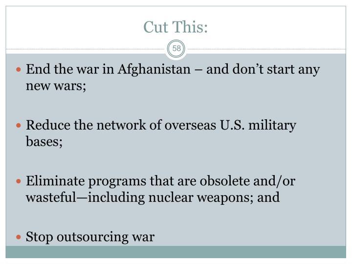Cut This: