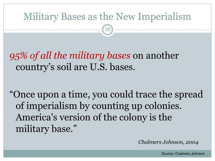 Military Bases as the New Imperialism