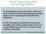 myth sequestration will devastate the military