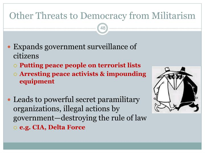 Other Threats to Democracy from Militarism