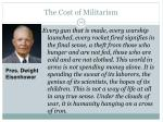 the cost of militarism