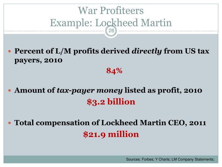 War Profiteers
