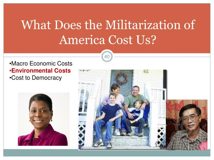What Does the Militarization of America Cost Us?