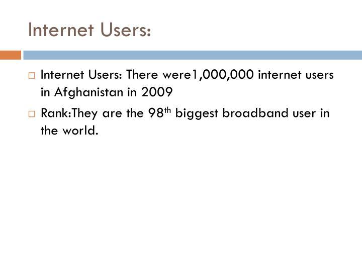 Internet Users: