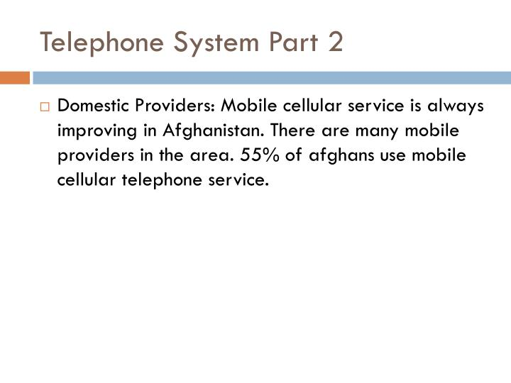 Telephone System Part 2