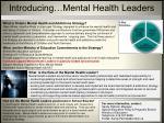 introducing mental health leaders