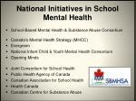 national initiatives in school mental health