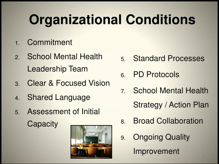 Organizational Conditions
