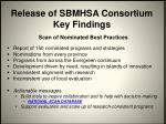 release of sbmhsa consortium key findings1