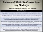 release of sbmhsa consortium key findings2