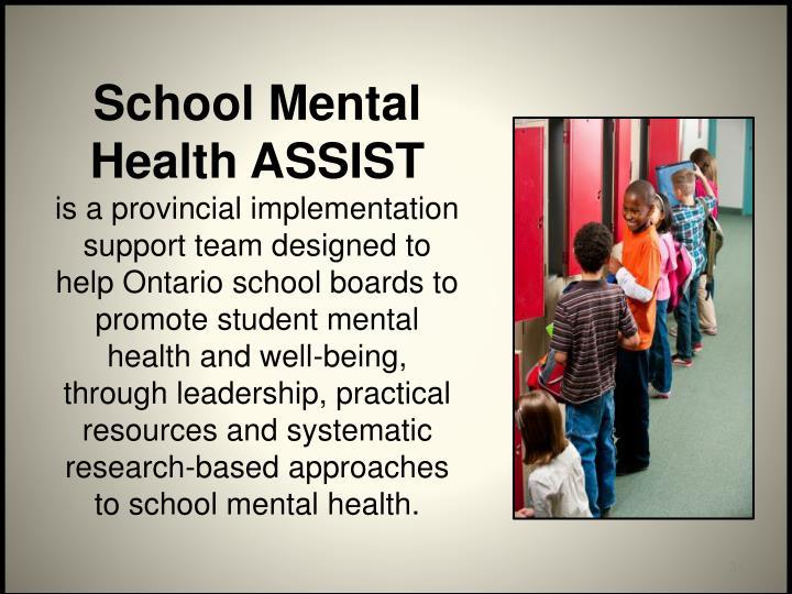 School Mental Health ASSIST